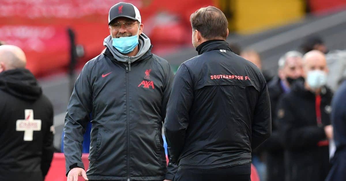 Jurgen-Klopp-Ralph-Hasenhuttl Anfield TEAMtalk