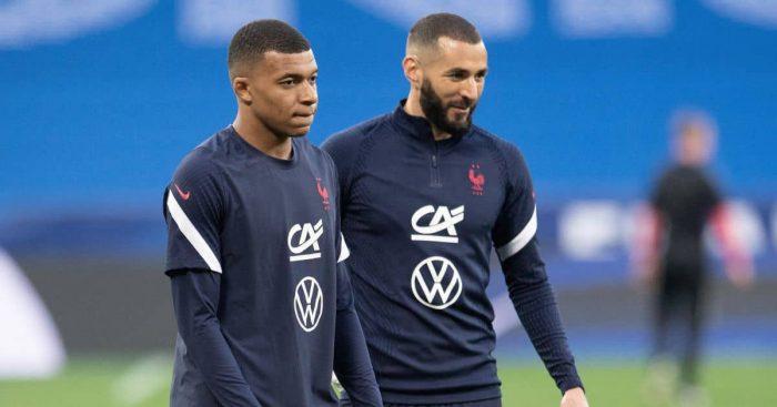 Mbappe-Benzema France training TEAMtalk