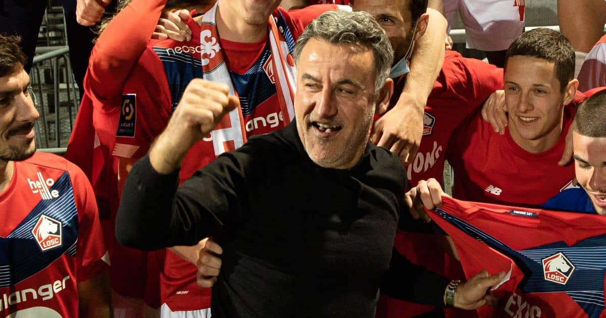 Christophe Galtier, manager celebrates after Lille win Ligue 1, TEAMtalk