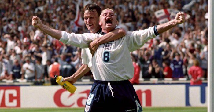 Paul Gascoigne Euro 96 England v Scotland TEAMtalk