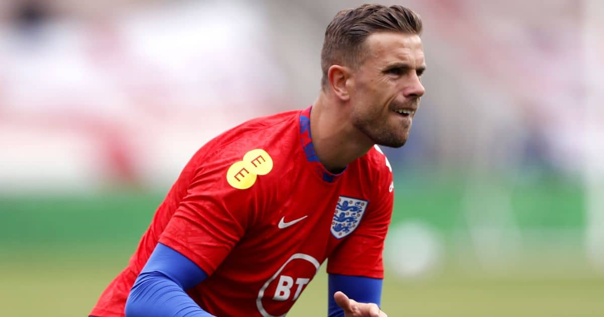 Jordan Henderson England vice captain warm up