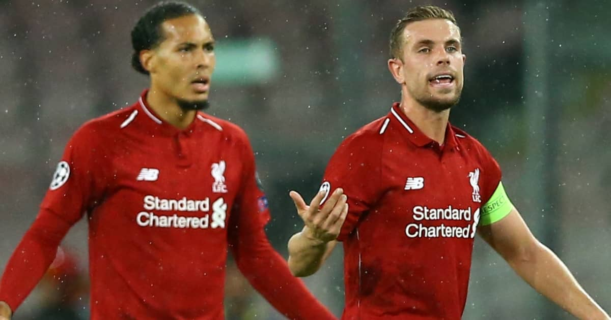 Jordan Henderson, Virgil Van Dijk Napoli v Liverpool October 2018 TEAMtalk