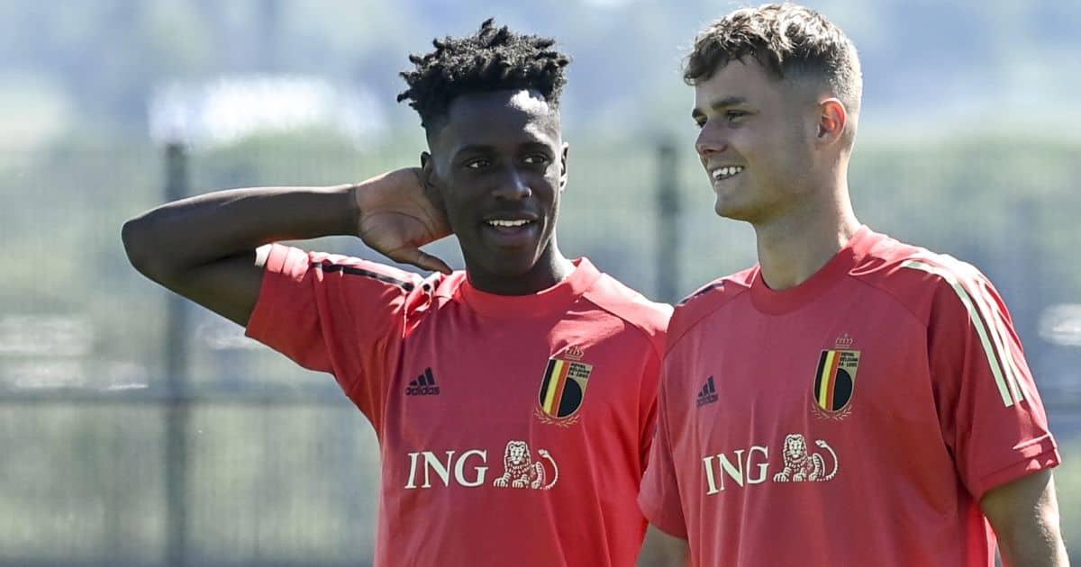 Albert Sambi Lokonga, Zinho Vanheusden, Belgium training