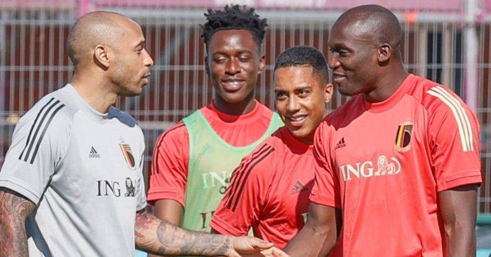 Thierry Henry, Albert Sambi Lokonga, Youri Tielemans, Romelu Lukaku, Belgium, Euro 2020 training