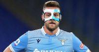 Sergej Milinkovic-Savic, masked Lazio midfielder