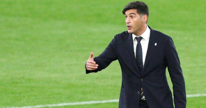 Paulo Fonseca Roma v Man Utd May 2021