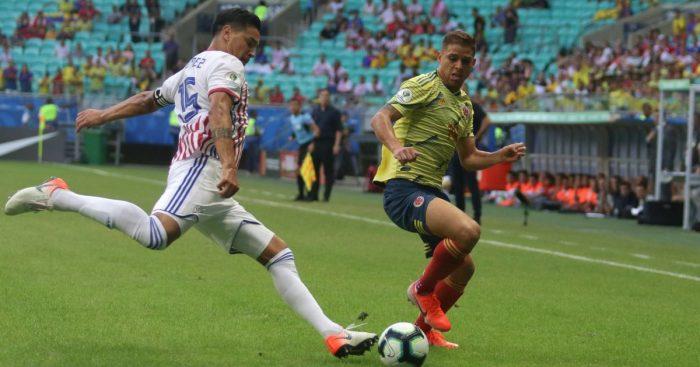 Gustavo Gomez, Gustavo Cuellar Colombia v Paraguay June 2019