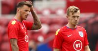 Ben White, James Ward-Prowse England warm-up