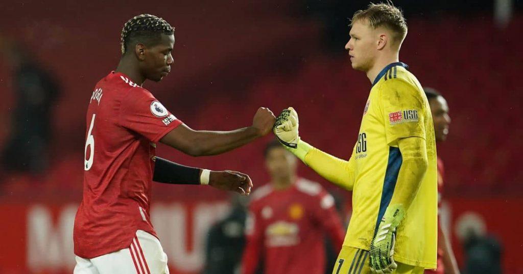 Paul Pogba; Aaron Ramsdale Man Utd v Sheff Utd TEAMtalk