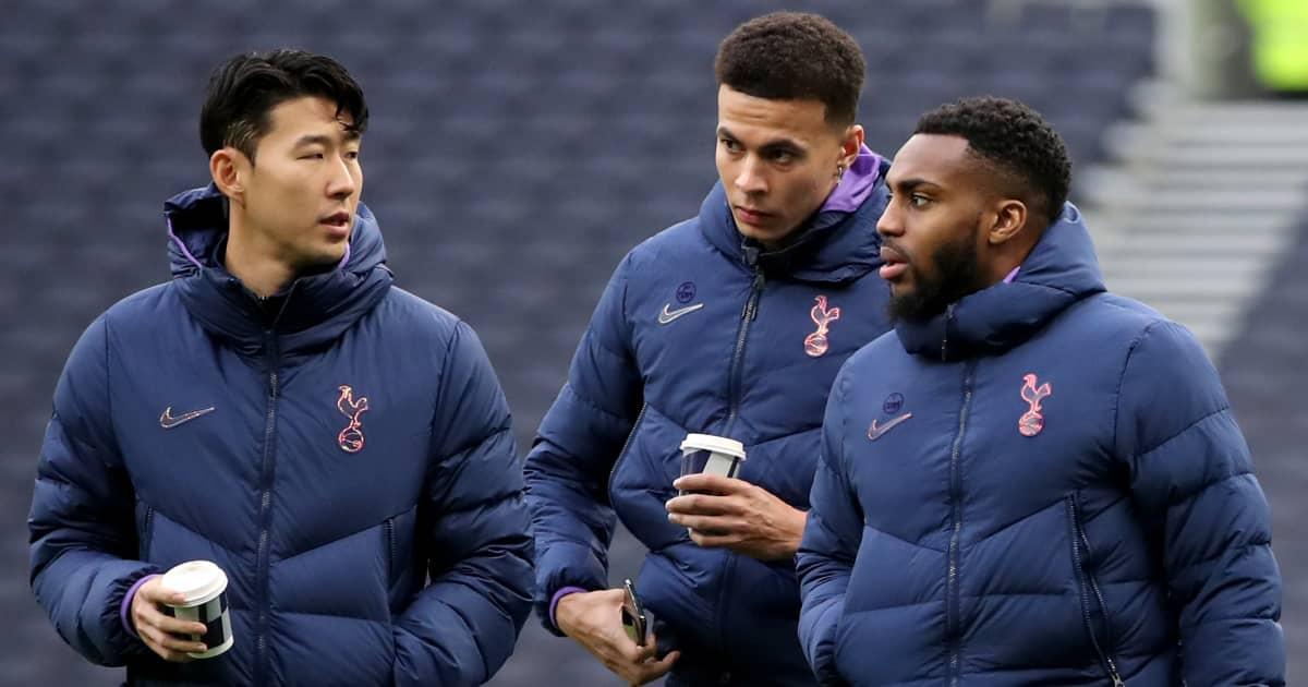 Tottenham stars Son Heung-min, Dele Alli and Danny Rose in discussion