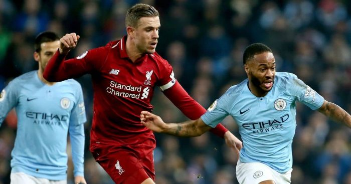 Jordan Henderson; Raheem Sterling Liverpool v Man City TEAMtalk