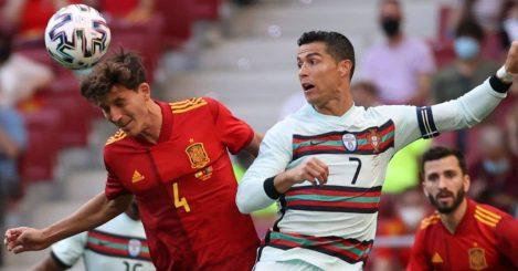 Pau Torres; Cristiano Ronaldo Portugal v Spain