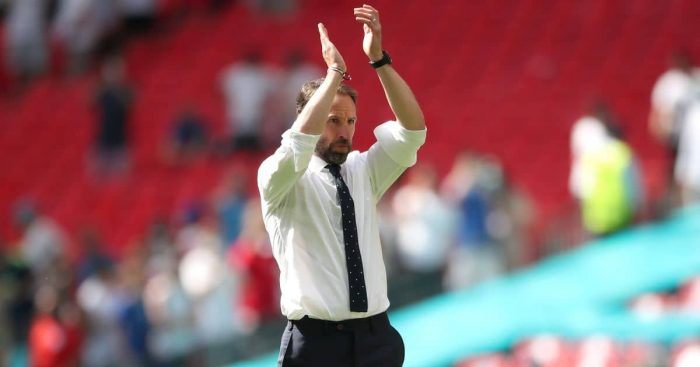 Gareth Southgate, England manager applauds fans after England beat Croatia at Euro 2020, 13/06/2021, TEAMtalk