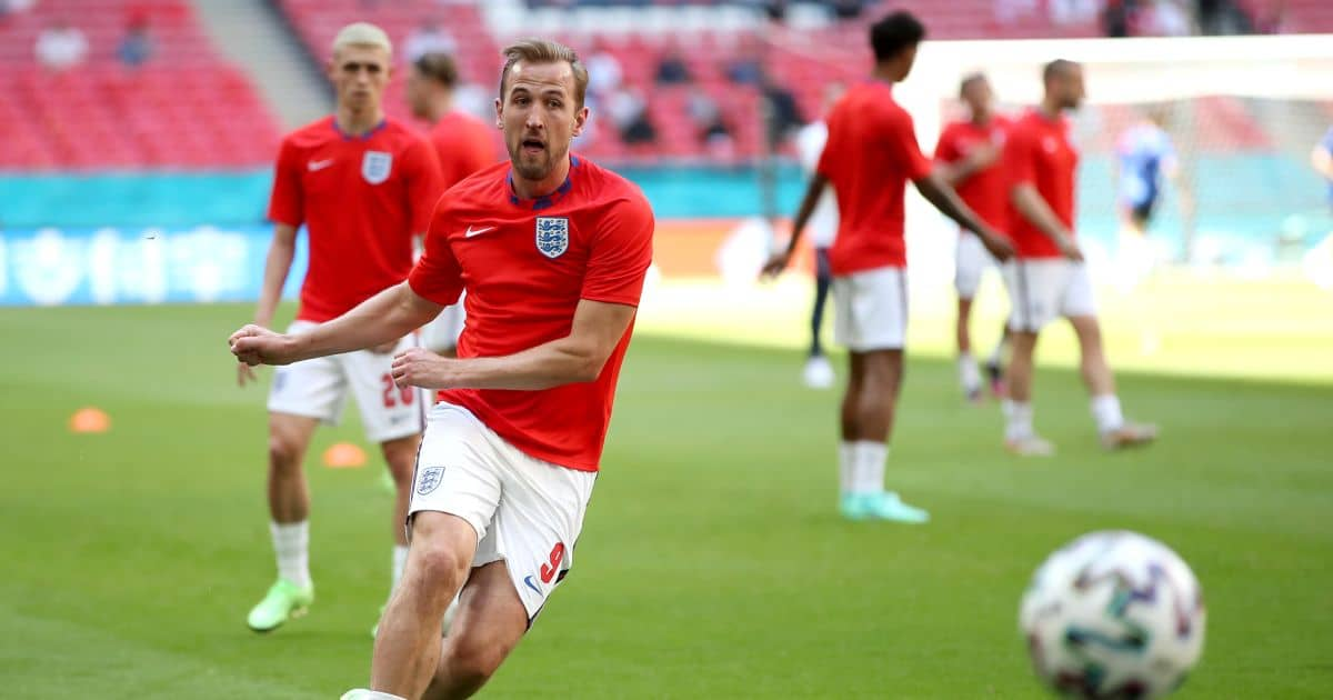 Harry Kane warming up England v Croatia Euro 2020