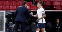 Gareth Southgate, Kalvin Phillips, midfielder is substituted in Denmark v England, 14/10/2020, TEAMtalk