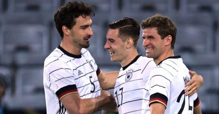 Mats Hummels, Florian Neuhaus and Thomas Muller celeb Germany