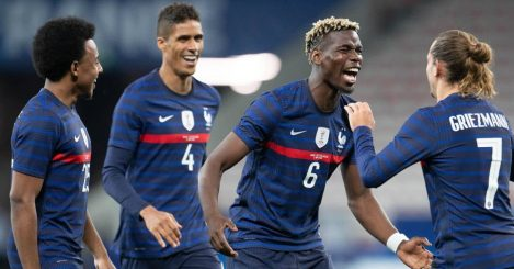 Kounde; Varane; Pogba; Griezmann France celeb TEAMtalk