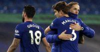 Olivier Giroud, Marcos Alonso, Thomas Tuchel, Chelsea February 2021