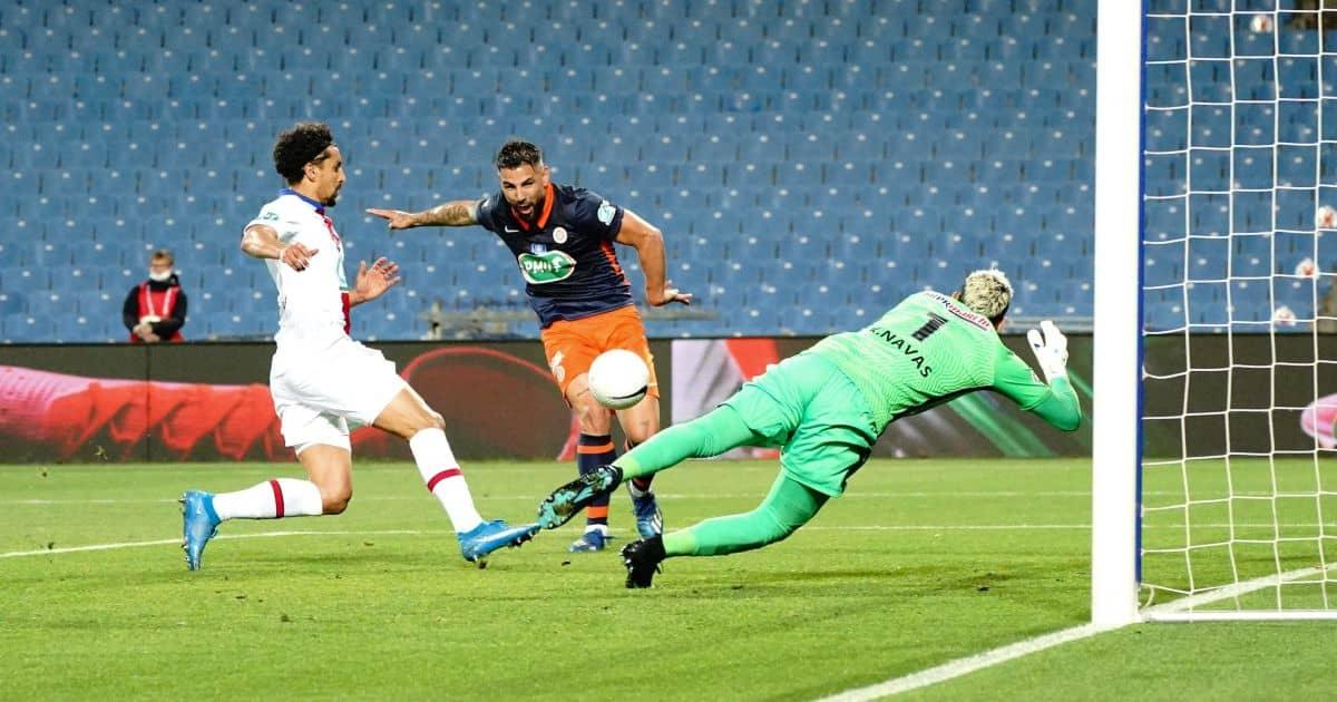 Keylor Navas, Marquinhos, Andy Delort Montpellier v PSG May 2021