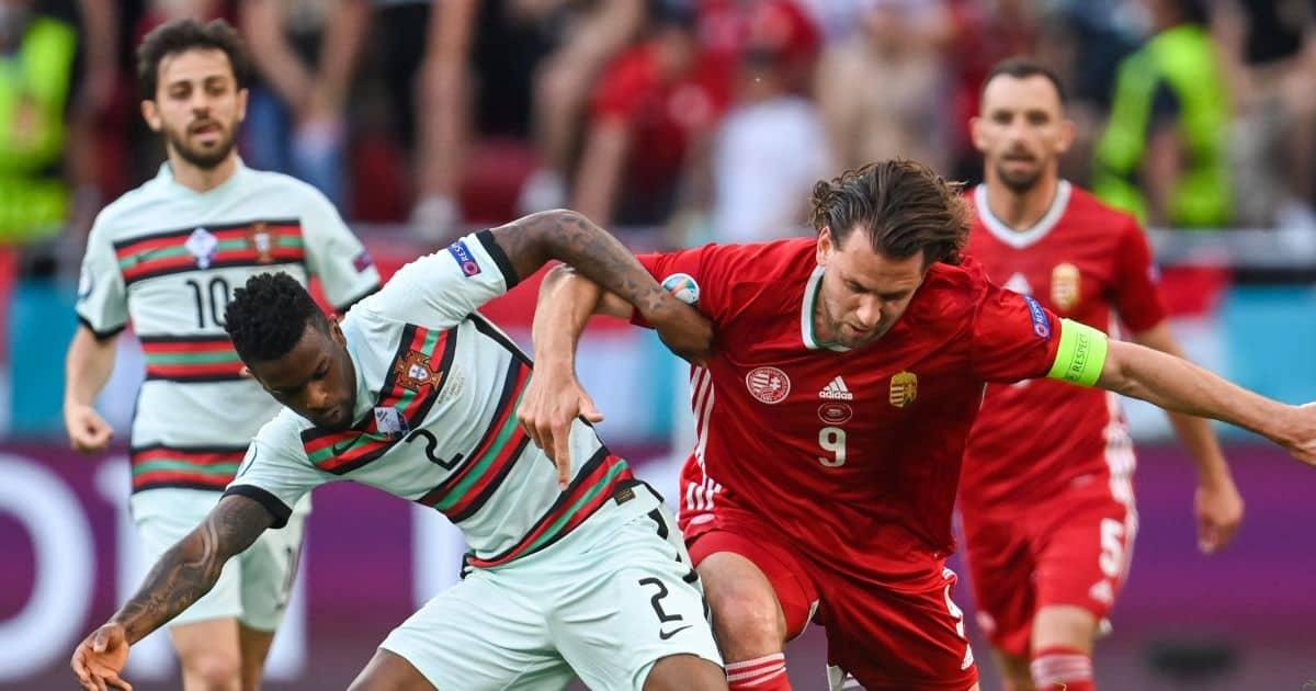 Nelson Semedo; Adam Szalai Hungary v Portugal TEAMtalk