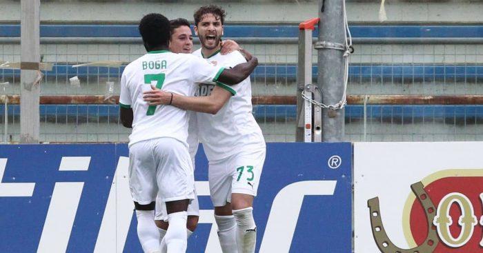 Manuel Locatelli celebrates Parma v Sassuolo May 2021