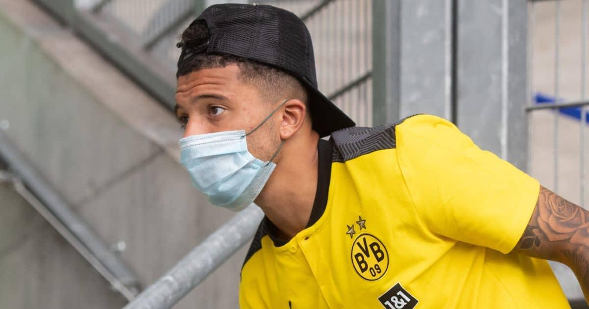 Jadon Sancho face mask, Borussia Dortmund