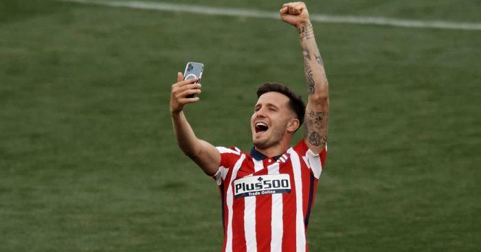 Saul Niguez selfie Atletico Madrid TEAMtalk