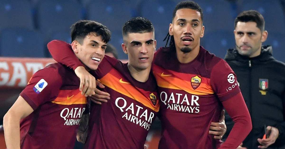 Roger Ibanez, Gianluca Mancini, Chris Smalling. Roma defenders TEAMtalk