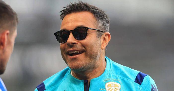Andrea Radrizzani celebrates Leeds United July 2020