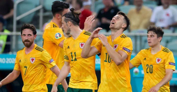 Aaron Ramsey goal celebration, Wales v Turkey, Euro 2020