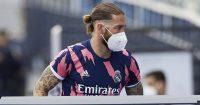 Sergio Ramos mask Real Madrid training TEAMtalk