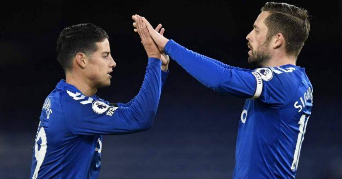 James Rodriguez, Gylfi Sigurdsson. Everton TEAMtalk