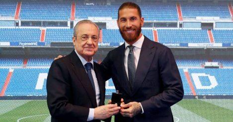Sergio Ramos, Florentino Perez Real Madrid farewell June 2021