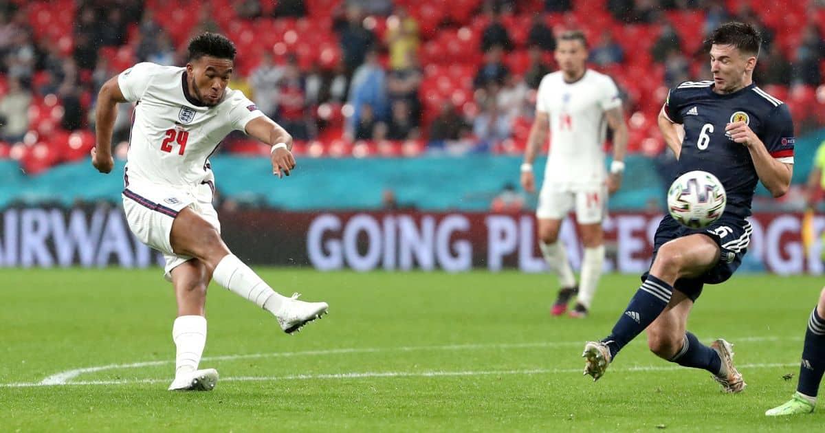 Reece James, Kieran Tierney England v Scotland Euro 2020