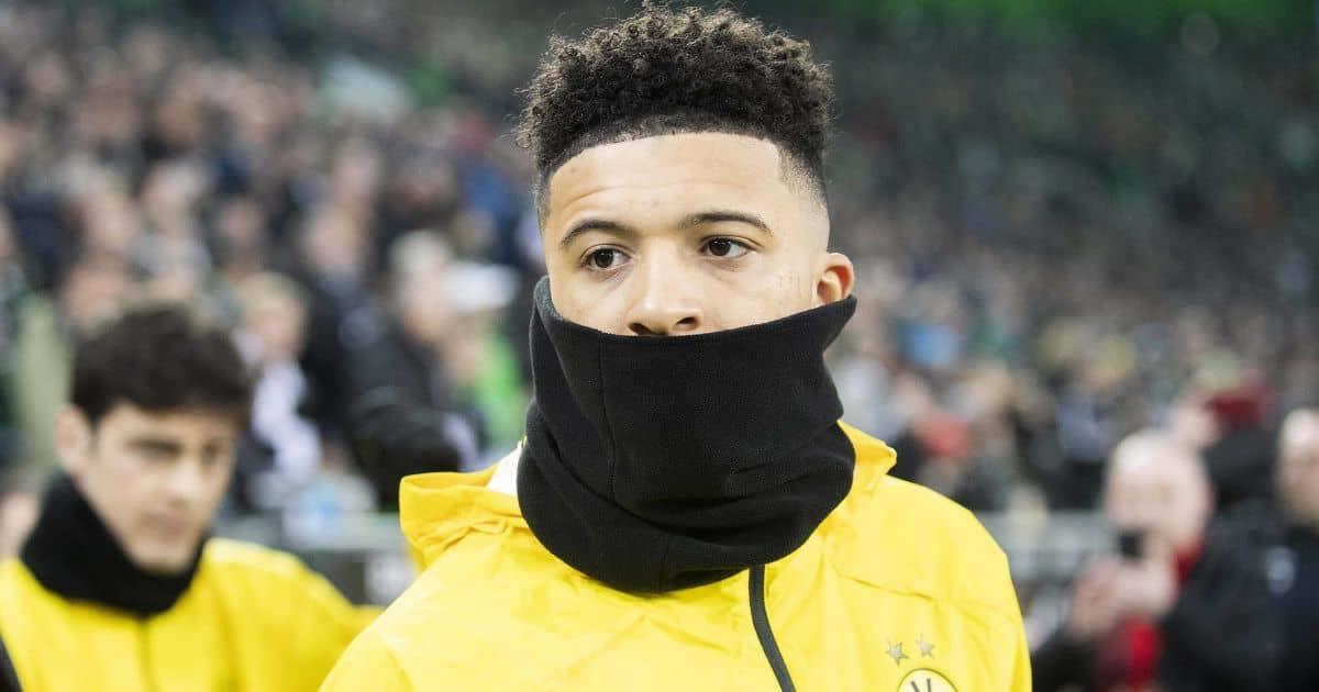 Jadon Sancho, Borussia Dortmund training top, snood