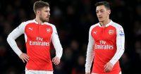 Aaron Ramsey; Mesut Ozil Arsenal old boys TEAMtalk