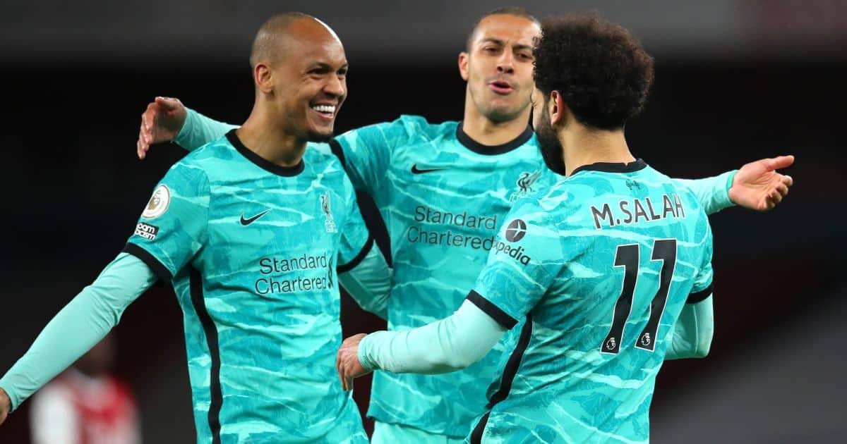 Fabinho, Thiago, Mohamed Salah, Liverpool celeb