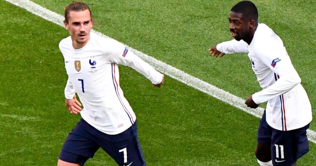 Antoine Griezmann France celeb v Hungary TEAMtalk