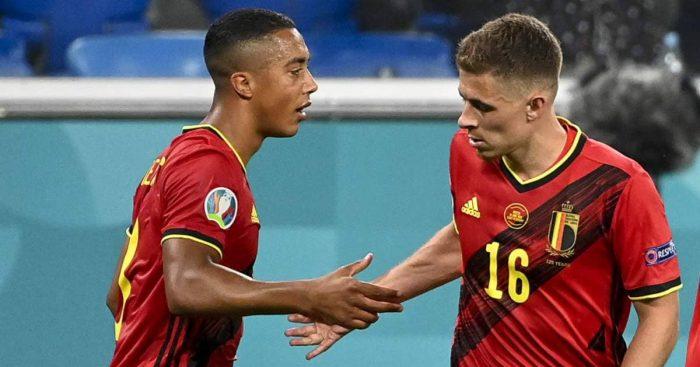 Youri Tielemans, Thorgan Hazard. Belgium TEAMtalk