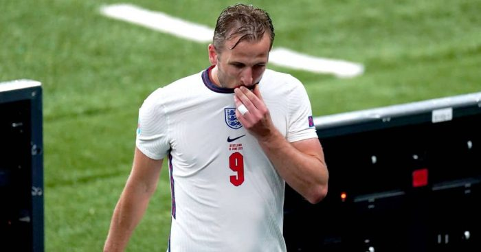 Harry Kane frustrated after substitution England v Scotland Euro 2020