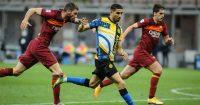 Achraf Hakimi, Davide Santon Inter v Roma May 2021