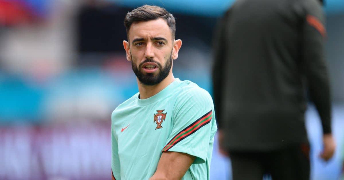Bruno Fernandes Man Utd, Portugal training Euro 2020