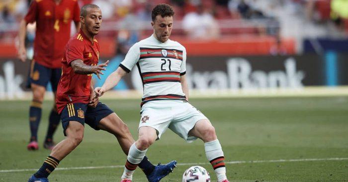 Thiago Alcantara, Diogo Jota Liverpool, Spain v Portugal June 2021