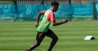 Albert Sambi Lokonga Belgium training June 2021