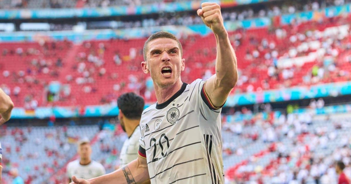 Robin Gosens celebrates Portugal v Germany Euro 2020