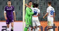 Nikola Milenkovic, Pierluigi Gollini, Remo Freuler, Mario Pasalic Fiorentina v Atalanta April 2021