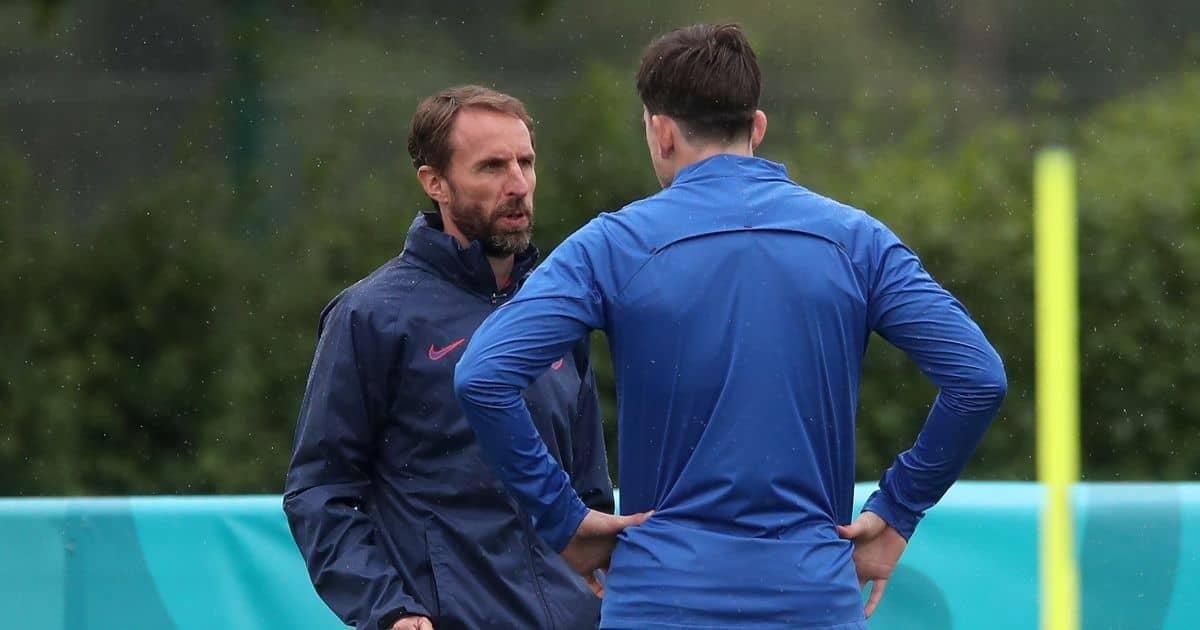 Harry.Maguire.Gareth.Southgate.England.training TEAMtalk