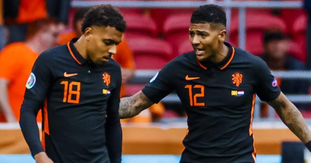 Donyell Malen, Patrick van Aanholt, Holland, Euro 2020
