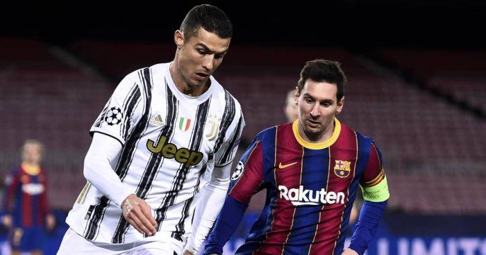 Cristiano Ronaldo and Lionel Messi, Juventus v Barcelona, December 2020