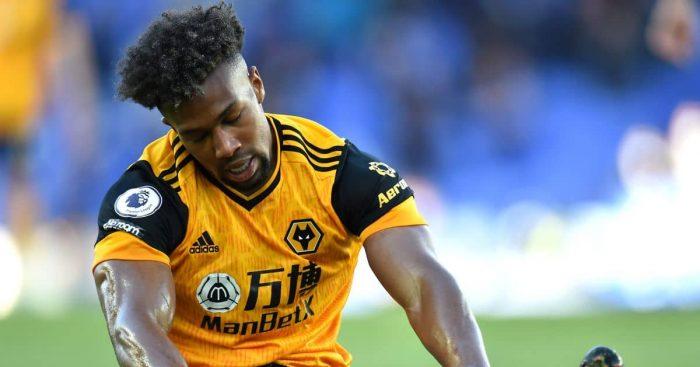 Adama Traore, Wolves winger dejected